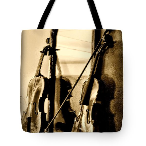 Violins Tote Bag by Bill Cannon