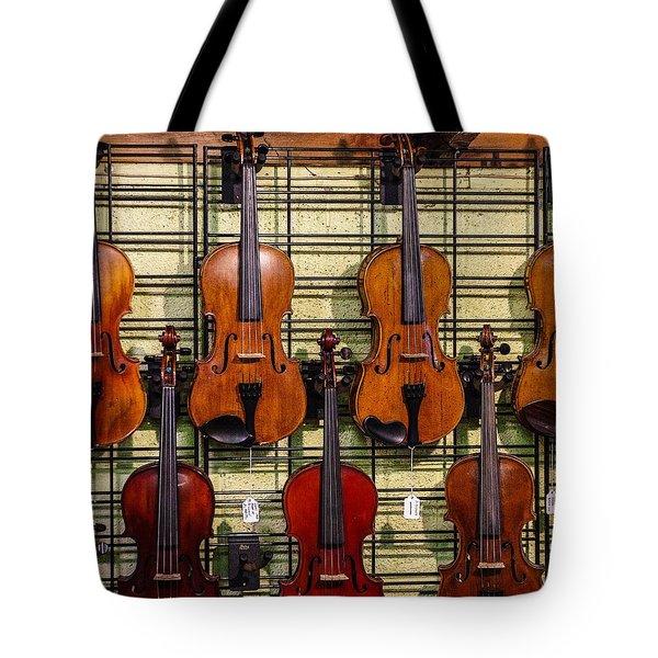 Violins In A Shop Tote Bag