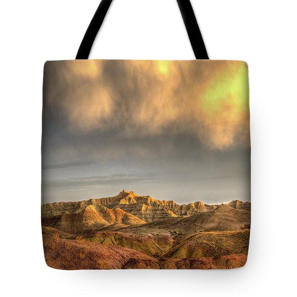 Virga Over The Badlands Tote Bag