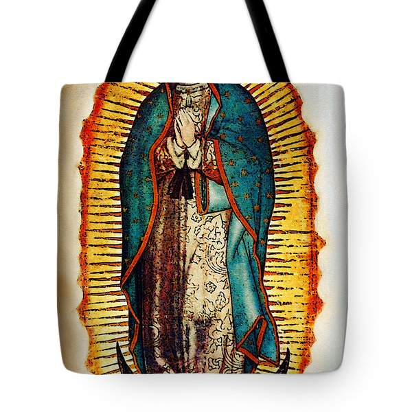 Virgen De Guadalupe Tote Bag by Bibi Romer