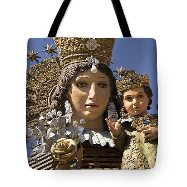 Virgen De Los Desamparados Tote Bag