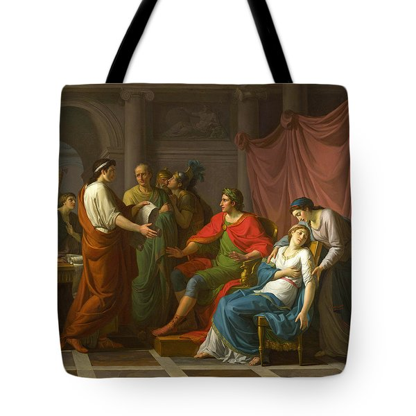Virgil Reading The Aeneid To Augustus And Octavia Tote Bag