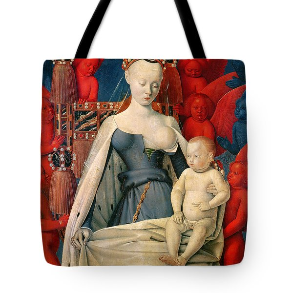 virgin and child surrounded by angels painting by jean fouquet. Black Bedroom Furniture Sets. Home Design Ideas