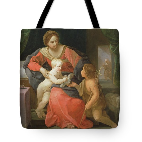 Virgin And Child With Saint John The Baptist Tote Bag