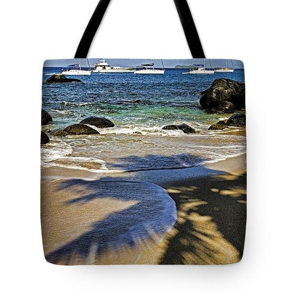Virgin Gorda Beach Tote Bag by Dennis Cox WorldViews