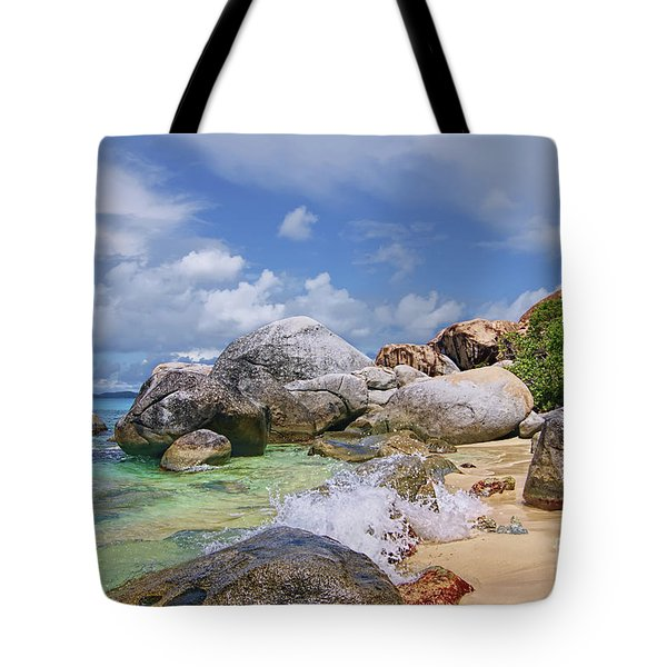 Tote Bag featuring the photograph Virgin Gorda The Baths by Olga Hamilton