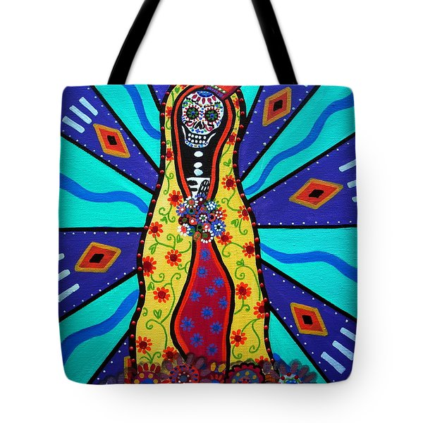 Virgin Guadalupe Day Of The Dead Tote Bag