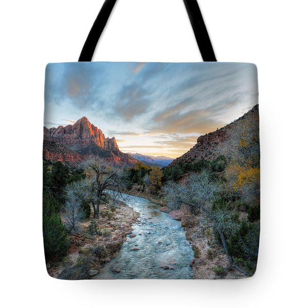 Virgin River And The Watchman Tote Bag