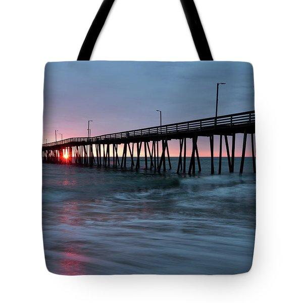 Virginia Beach Fishing Pier Tote Bag