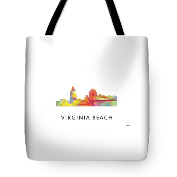 Virginia Beach  Virginia Skyline Tote Bag