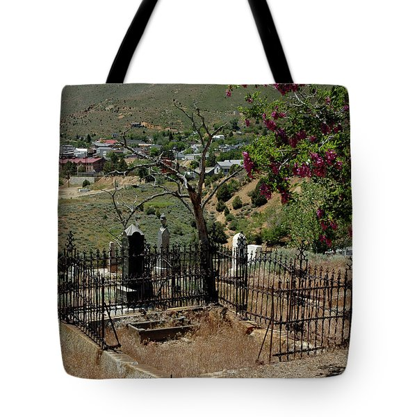 Virginia City Cemetery Broken Gate Tote Bag by LeeAnn McLaneGoetz McLaneGoetzStudioLLCcom