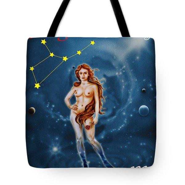 Virgo And The Stars Tote Bag