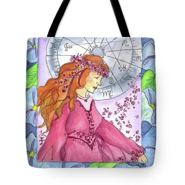Tote Bag featuring the painting Virgo by Cathie Richardson