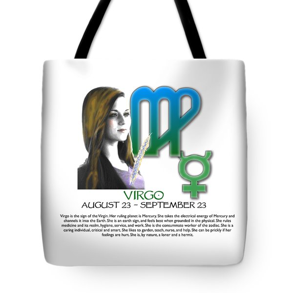 Virgo Sun Sign Tote Bag