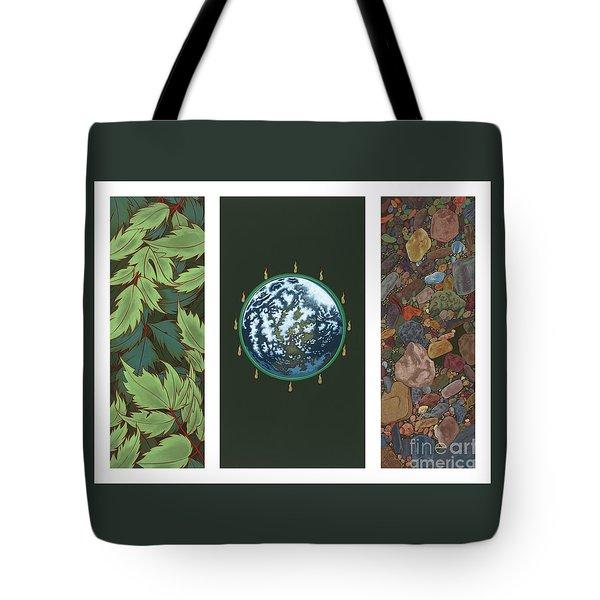Viriditas Triptych Tote Bag