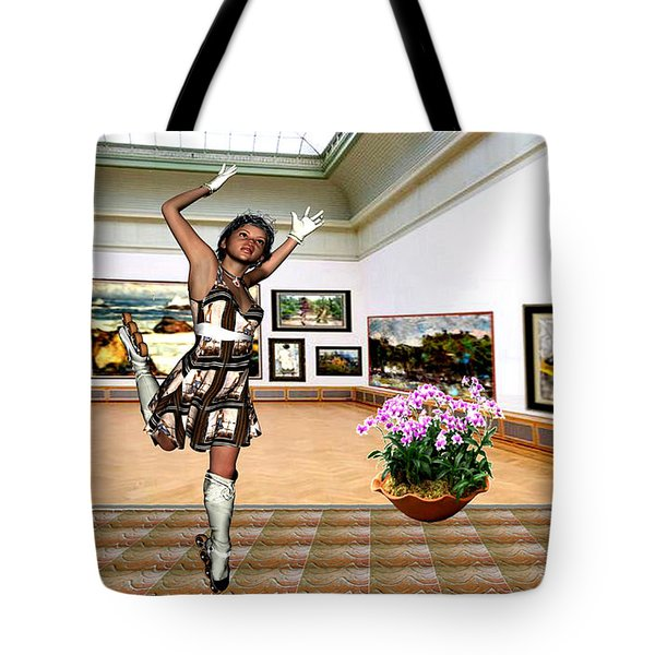 Virtual Exhibition - A Girl With A Pairro Dress Tote Bag by Danail Tsonev