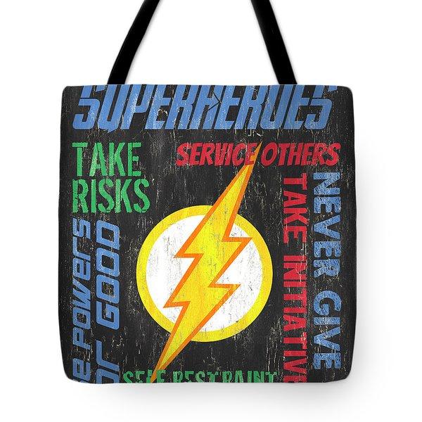 Virtues Of A Superhero 2 Tote Bag