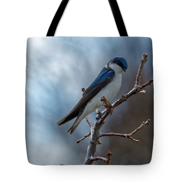 Vision In Blue Tote Bag