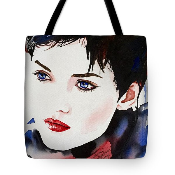 Tote Bag featuring the painting Vision Of Beauty by Michal Madison