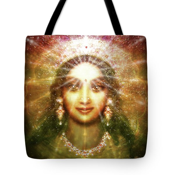 Vision Of The Goddess - Light Tote Bag by Ananda Vdovic