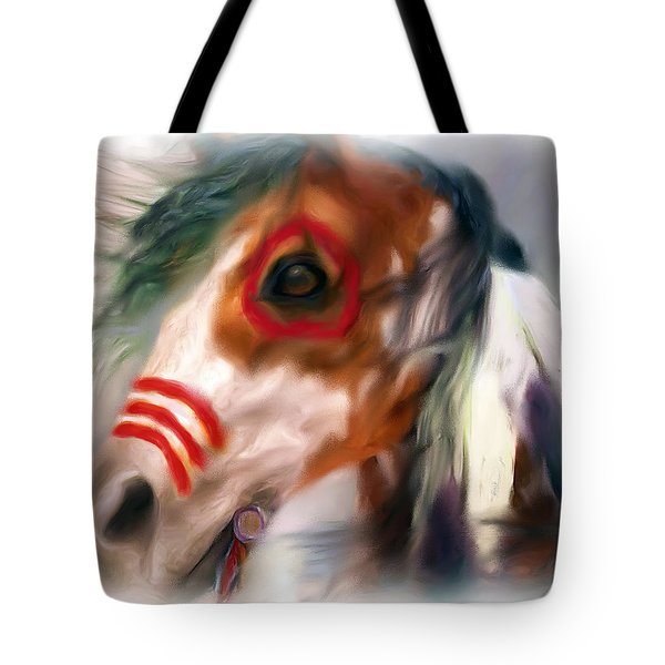 Visionary War Horse Tote Bag