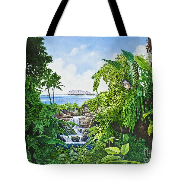 Visions Of Paradise Ix Tote Bag by Michael Frank
