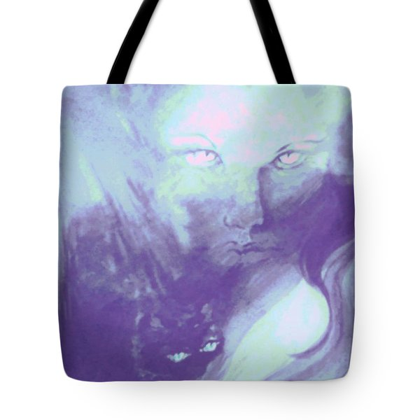 Tote Bag featuring the painting Visions Of The Night by Denise Fulmer
