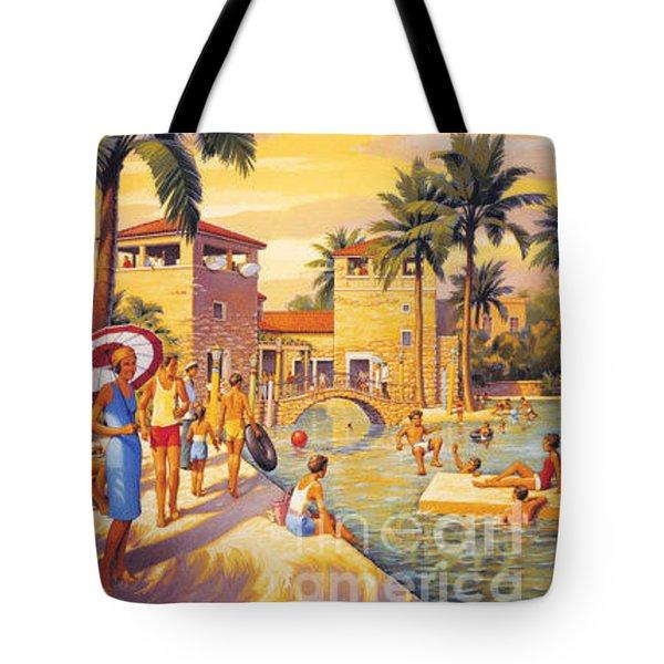 Visit Coral Gables-florida Tote Bag by Nostalgic Prints