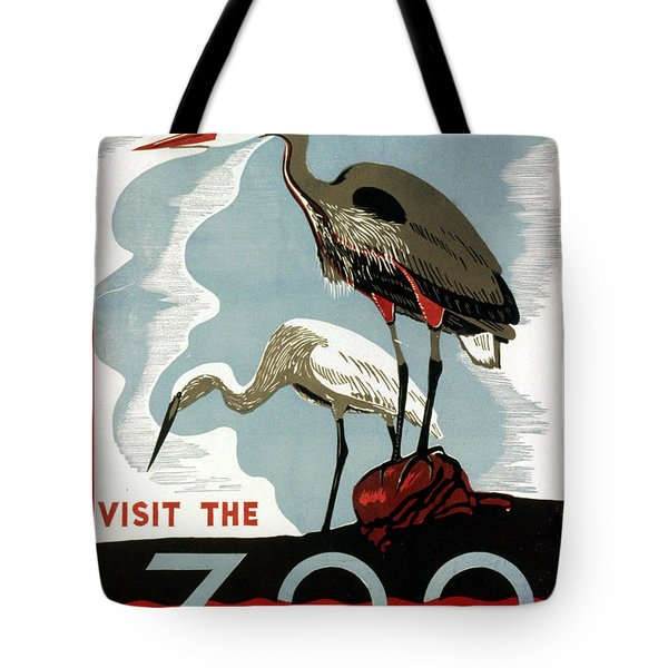 Visit The Zoo Egrets  Tote Bag by Unknow