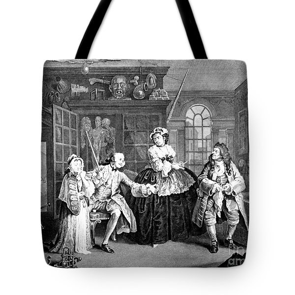 Visit To The Quack Doctor, 1745 Tote Bag by Science Source
