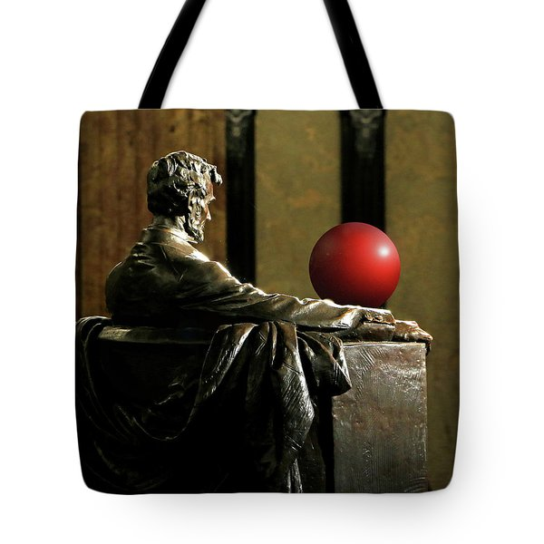 Tote Bag featuring the photograph Visiting Lincoln by Christopher McKenzie