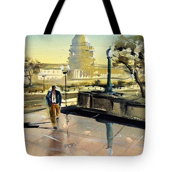 Visiting The Library Of Congress Tote Bag