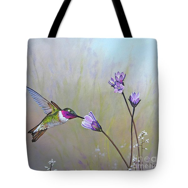 Visiting The Purple Garden Tote Bag