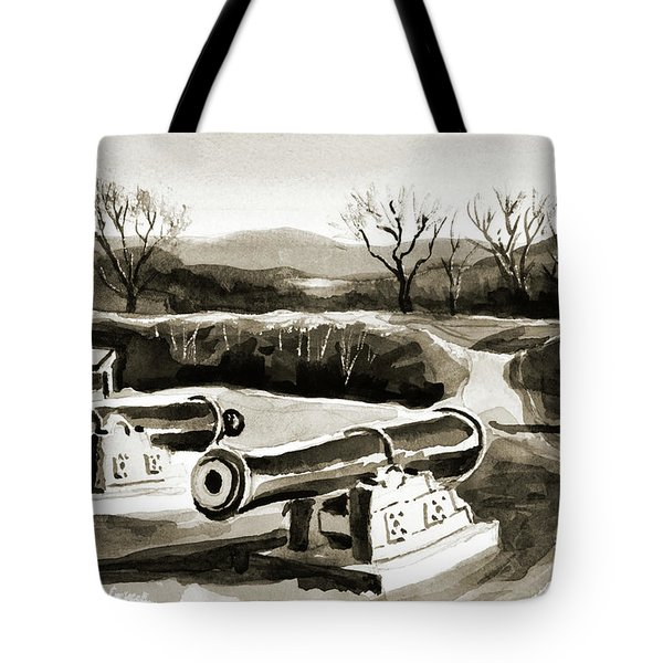Visitors Welcome Bw Tote Bag by Kip DeVore