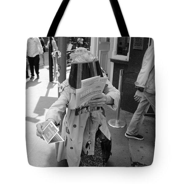 Visored Tote Bag