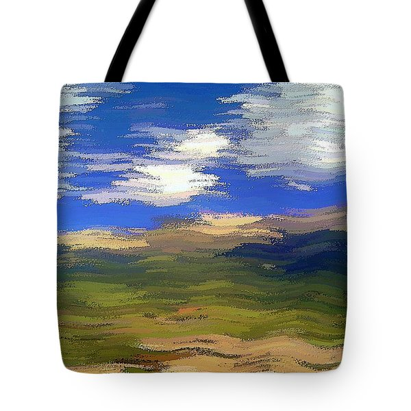 Tote Bag featuring the digital art Vista Hills by David Manlove