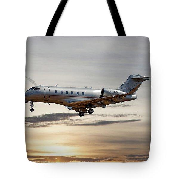 Vista Jet Bombardier Challenger 300 Tote Bag