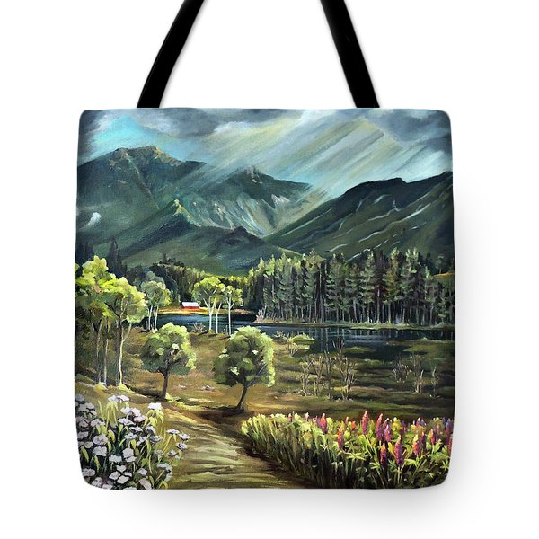 Vista View Of Cannon Mountain Tote Bag