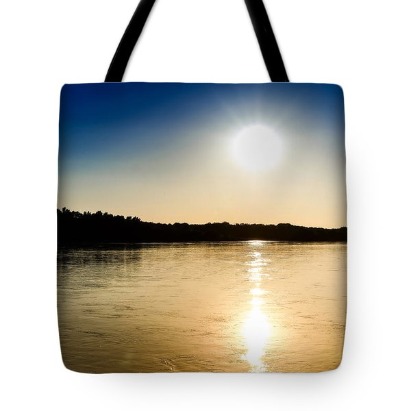 Vistula River Sunset 2 Tote Bag