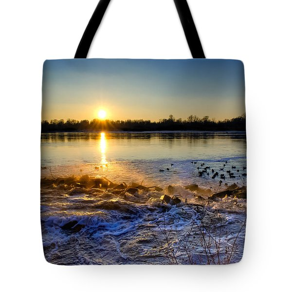Vistula River Sunset 3 Tote Bag