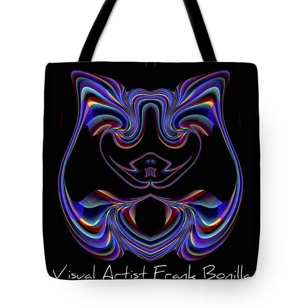 Tote Bag featuring the digital art Visual Artist Frank Bonilla Logo by Visual Artist Frank Bonilla