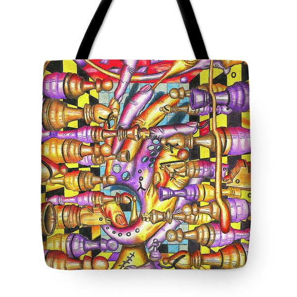 Visual Obstruction Of Probability Tote Bag