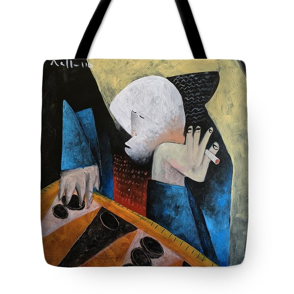 Vitae The Tawla Player  Tote Bag
