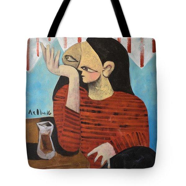 Vitae Woman Drinking Tea Tote Bag
