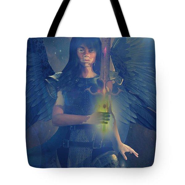 Vitiligo Angel Tote Bag by Suzanne Silvir