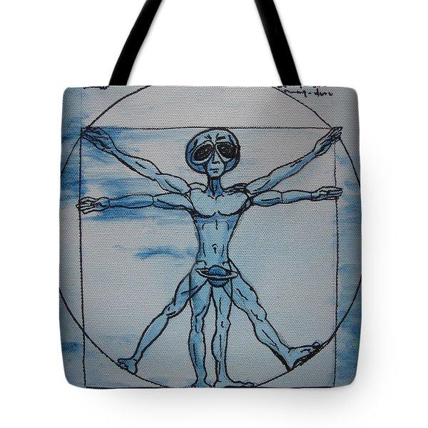 Vitruvian Alien Tote Bag