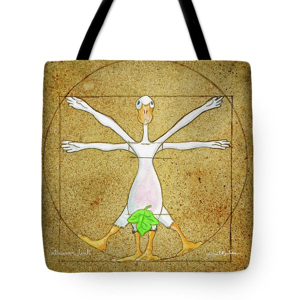 Vitruvian Duck Tote Bag