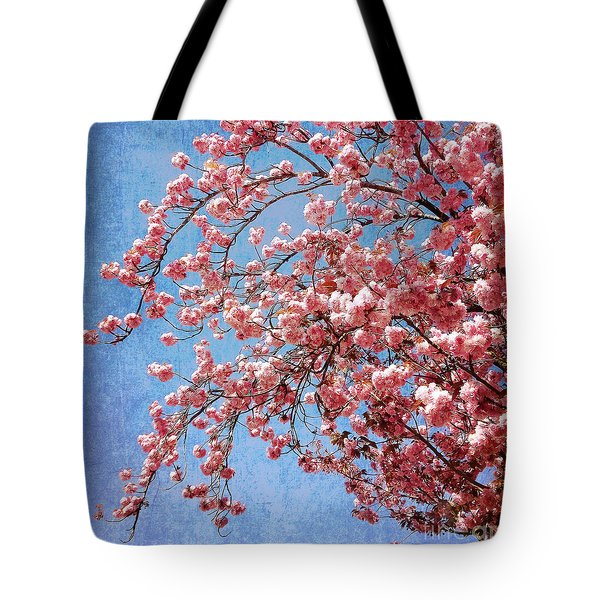 Vivid Cherry Blossoms Tote Bag by Maria Janicki