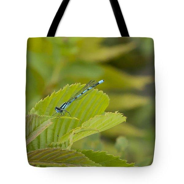 Vivid Dancer On Leaves Tote Bag