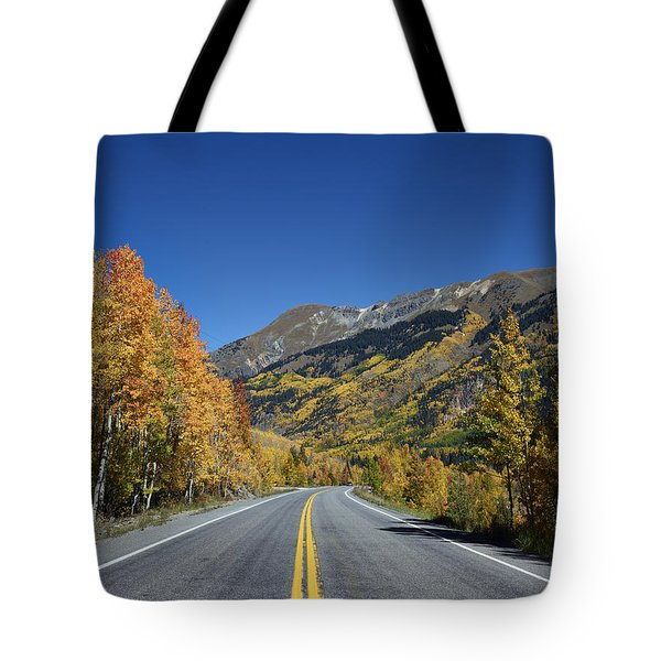 Vivid Fall Colors On The Million-dollar Highway In San Juan County In Colorado  Tote Bag